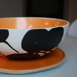 Bovine Pearl Dish Sandra Brown