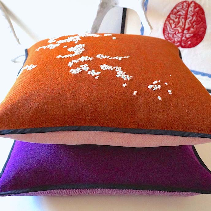 Hebridoodle Cushion Cover Culture Collection Amber