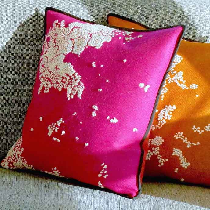 Hebridoodle Cushion Cover Culture Collection Pink